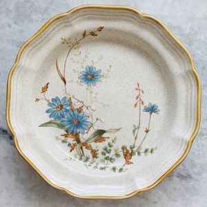 Vintage Mikasa Blue Daisies Salad Plate Set of 2
